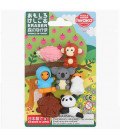 Iwako Puzzle Eraser - Animals in Forest - (Made in Japan)