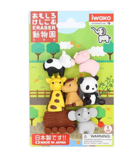 Iwako Puzzle Eraser - Zoo - (Made in Japan)
