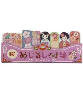 Self-adhesive bookmarkers - Kurochiku (Kyoto, Japan)- Sakura model