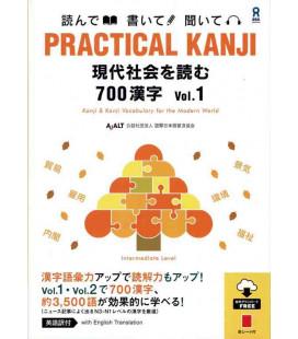 Practical Kanji - Reading topics and articles - 700 Kanji Vol.1 (Audios descargables)
