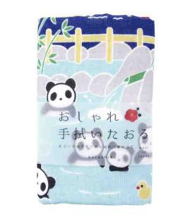 Toalha japonesa tenugui Kurochiku (Kyoto) - Modelo Panda