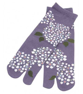 "Calcetines de mujer ""Tabi"" de dos dedos - Kurochiku (Kyoto)- Modelo Kodemari (Talla única 23-25 cm)"