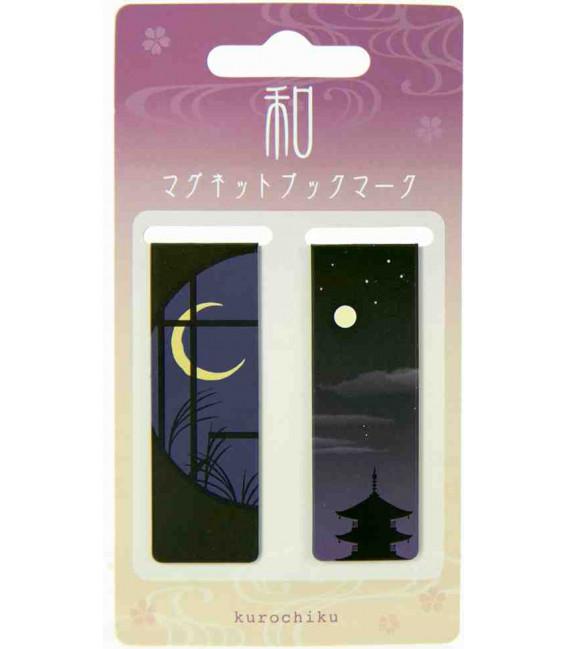 Marcador magnético Kurochiku (Kyoto) - modelo de noite