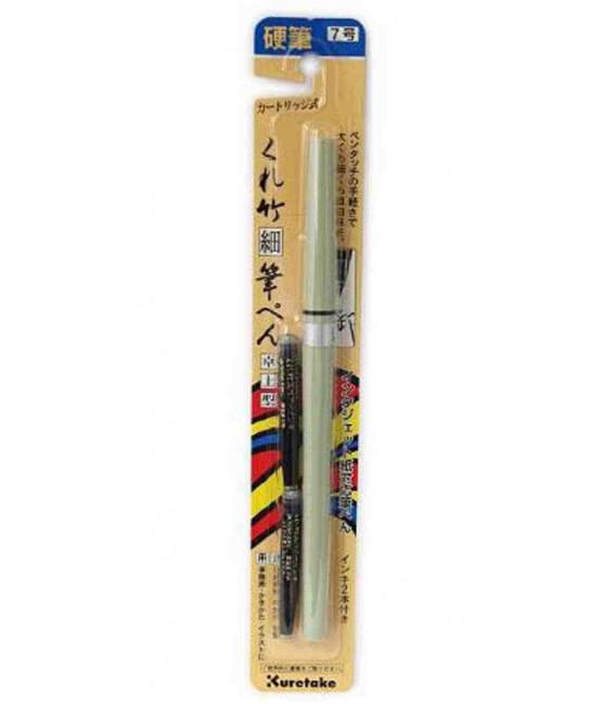 Rotulador recargable Kuretake Nª 7 de punta rígida - Modelo DH150-7B