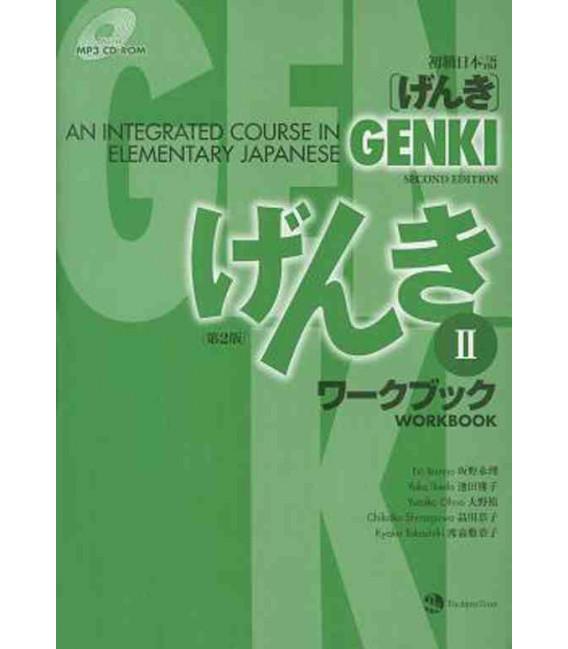 Genki: An Integrated Course in Elementary Japanese 2 - Workbook (2da. edición incluye CD-ROM MP3)