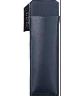 Porta bolígrafos magnético japonés de cuero - Modelo Pensam 2001 (Blue) - Color azul oscuro