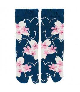 """Calcetines de mujer """"Tabi"""" de dos dedos - Kurochiku (Kyoto)-Mod. Sakurasukushi (Talla única 23-25cm)"""
