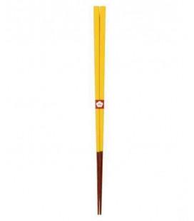 Palillos tradicionales japoneses Kawai - Color Yamabukiiro (Amarillo)