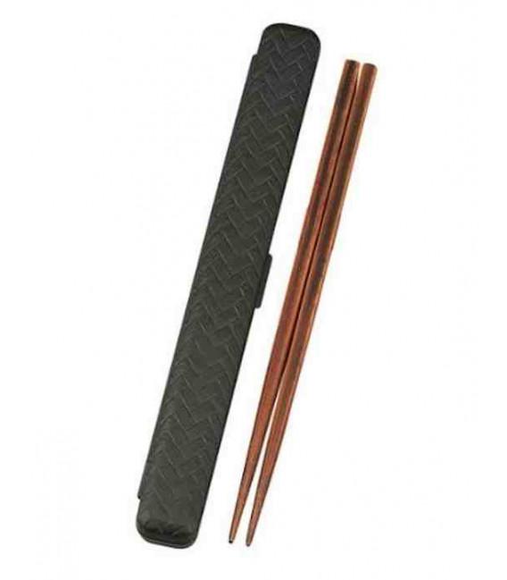 Palillos con estuche - Modelo 33052 - Set Kuro (negro)