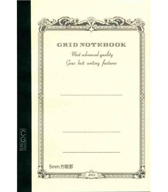 Apica CG53-WH Notebook (Tamaño A5 - Color blanco - Pauta cuadriculada - 104 páginas)