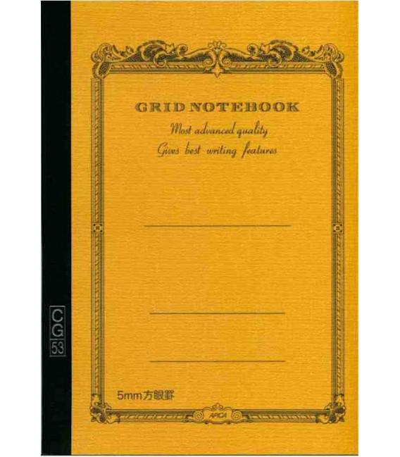 Apica CG53-BY Notebook (Tamaño A5 - Color amarillo mostaza - Pauta cuadriculada - 104 páginas)