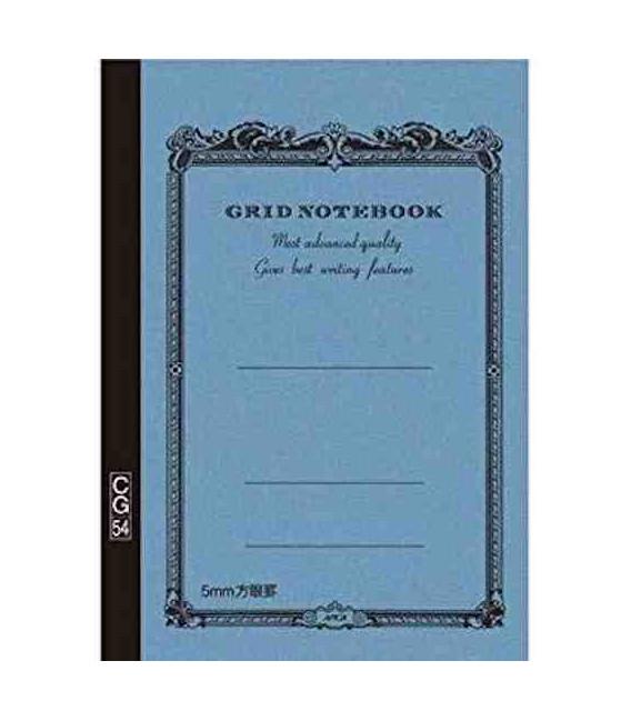 Apica CG54 - Notebook (Tamaño B6 - Color azul claro- Pauta cuadriculada - 104 páginas)