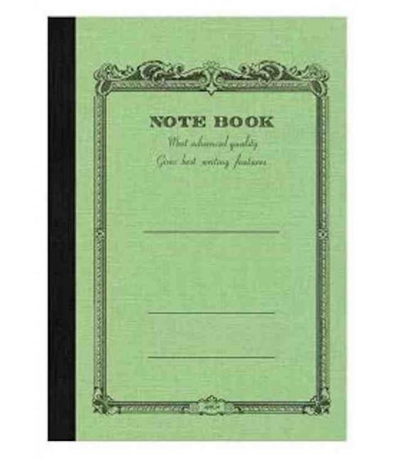 Apica CD20 - Notebook (Tamaño B6 - Color verde claro- Pauta rayada - 64 páginas)