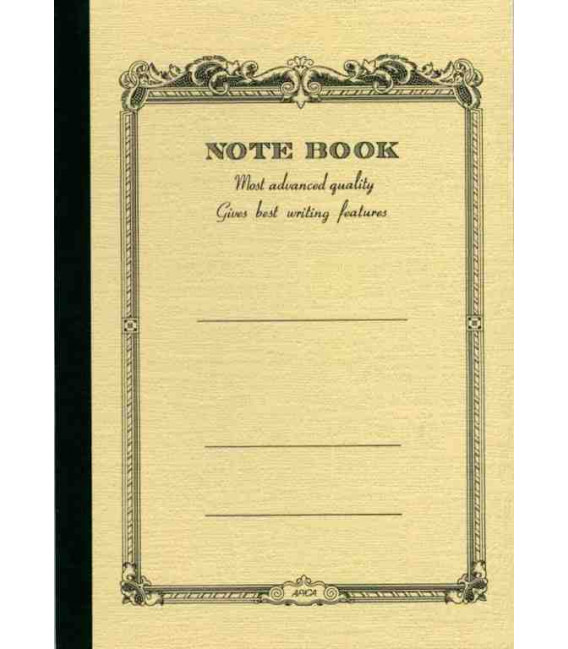 Apica CD20 - Notebook (Tamaño B6 - Color beige- Pauta rayada - 64 páginas)