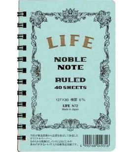 Life Noble Note - N72 (Tamaño 127x80mm - Color Azul claro - A rayas - 40 paginas)