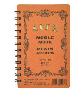 Life Noble Note - N71 (Tamaño 127x80mm - Color Marron - Liso - 40 paginas)