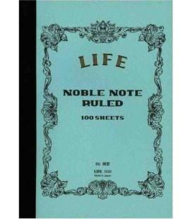 Life Noble Memo - N30 (Tamaño B6 - Color azul claro - A rayas - 100 paginas)