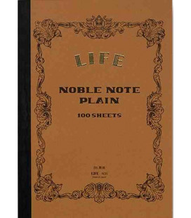Life Noble Memo - N29 (Tamaño B6 - Color marron - Liso - 100 paginas)