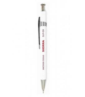 Bolígrafo Japonés Sierra (Carcasa madera de cedro) - Tinta Negra - Tamaño S - Color blanco