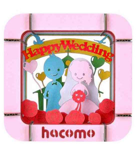 Hacomo Box - Tarjeta de regalo tridimensional - Modelo Happy wedding