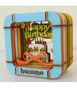 Hacomo Box - Tarjeta de regalo tridimensional - Modelo Happy Birthday