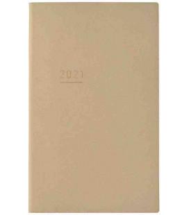 Jibun Techo Kokuyo - Agenda 2021 - Lite Mini Diary - B6 Slim - Color Beige