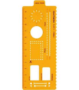 Kokuyo Jibun Techo Goods - Template Plan - Regla color naranja