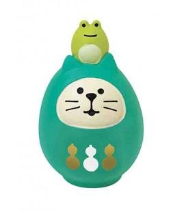 Decole - Gato Daruma verde - Concombre Fuku Mono - Modelo ZCB-43946