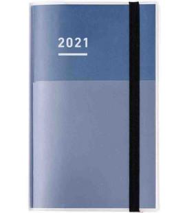 Jibun Techo Kokuyo - Agenda 2021 - Diary + Life + Idea set - A5 Slim - Color azul marino