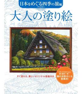 Otona no nurie Nihon o meguru shiki no tabi-hen - Libro para colorear