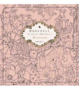 Shiawase no menuetto - Menuet de bonheur - Libro para colorear