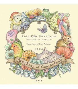 Symphony of Cute Animals - Libro para colorear