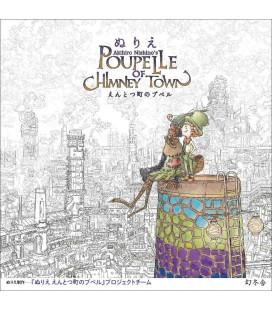 Akihiro Nishino's Poupe Lle of Chimney Town - Libro para colorear