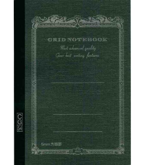 Apica CG54 - Notebook (Tamaño B6 - Color negro- Pauta cuadriculada - 104 páginas)