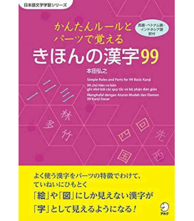 Simple Rules and Parts for 99 Basic Kanji