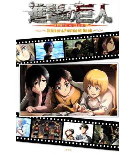 Shingeki no Kyojin (El ataque de los titanes) Sticker & Postcard Book