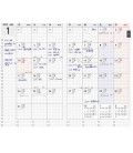 Jibun Techo Kokuyo - Agenda 2022 - Biz Diary - A5 Slim - Color azul marino