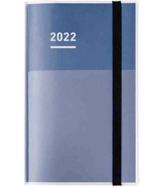 Jibun Techo Kokuyo - Agenda 2022 - Diary + Life + Idea set - A5 Slim - Color azul marino