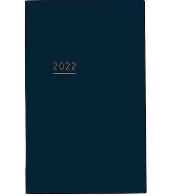 Jibun Techo Kokuyo - Agenda 2022 - Lite Mini Diary - B6 Slim - Color azul marino