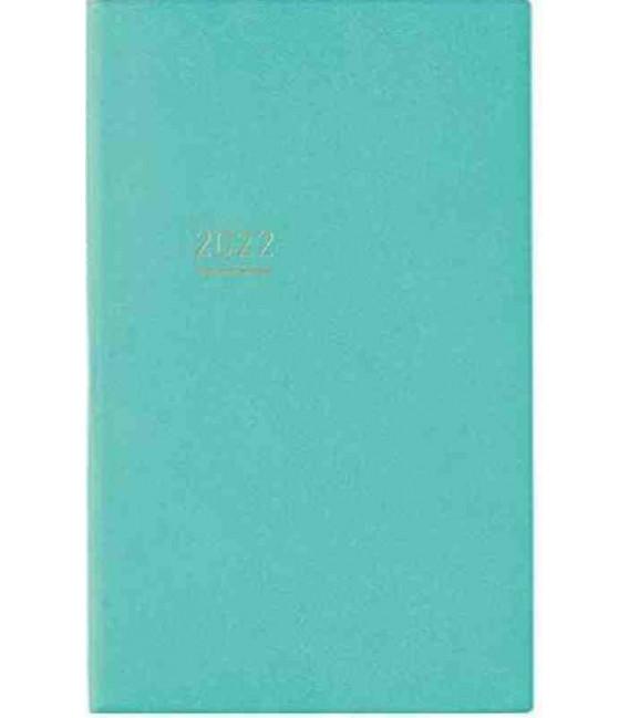 Jibun Techo Kokuyo - Agenda 2022 - Lite Mini Diary - B6 Slim - Color turquesa