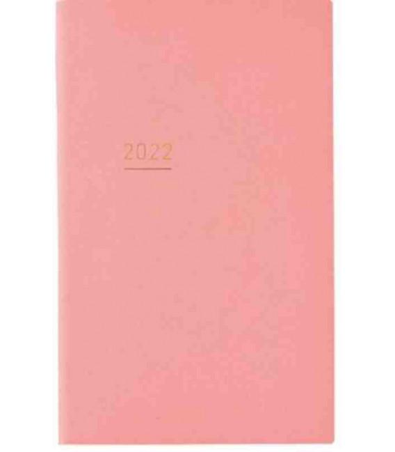 Jibun Techo Kokuyo - Agenda 2022 - Lite Mini Diary - B6 Slim - Color rosa