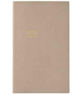 Jibun Techo Kokuyo - Agenda 2022 - Lite Mini Diary - B6 Slim - Color beige
