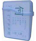 Flashcard Case - translucent plastic (Para Kanji Flashcards-Capacidad 40 tarjetas)