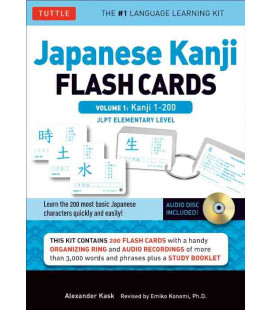 Japanese Kanji Flash Cards Kit, Volume 1 (Kanji 1-200: JLPT Beginning Level)