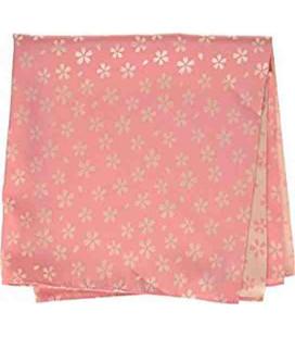 Yamada Seni Musubi - Pañuelo japonés - Kirara-Sakura (rosa y crema)- 100% Poliéster