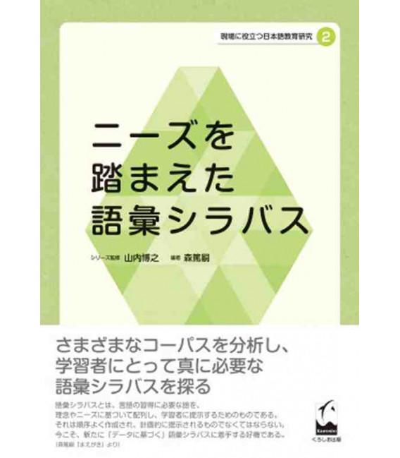 Lexical syllabus based on needs